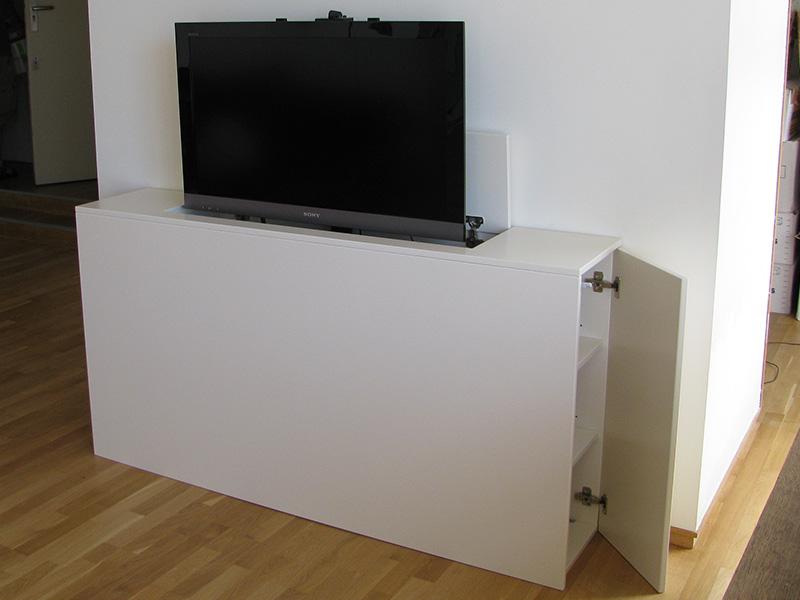 elektrische tv lift hydraulisch aangedreven met. Black Bedroom Furniture Sets. Home Design Ideas