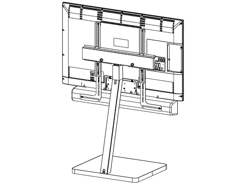 ... soundbar beugels montage aan muurbeugel, tv standaard of tv meubel