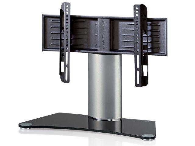 Ultimate glazen universele tv steun met zilveren kolom 32 46 inch - Tv standaard huis ter wereld ...