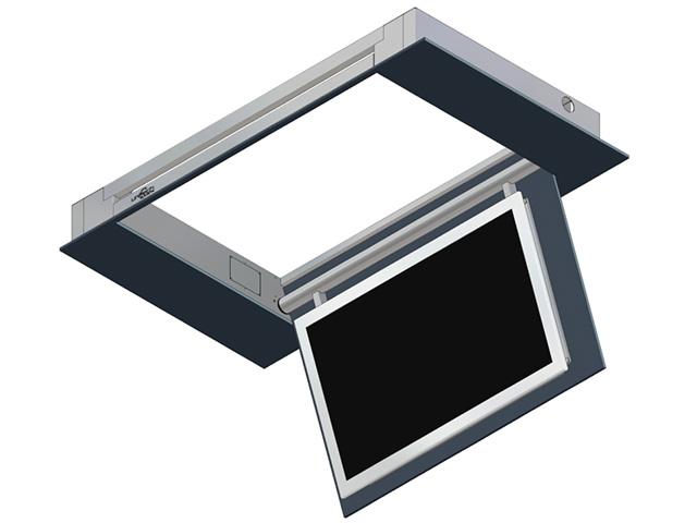 Unitech elektrische tv plafond lift max  ca  50 inch tv u0026#39;s max  110 u00b0 met handschakelaar