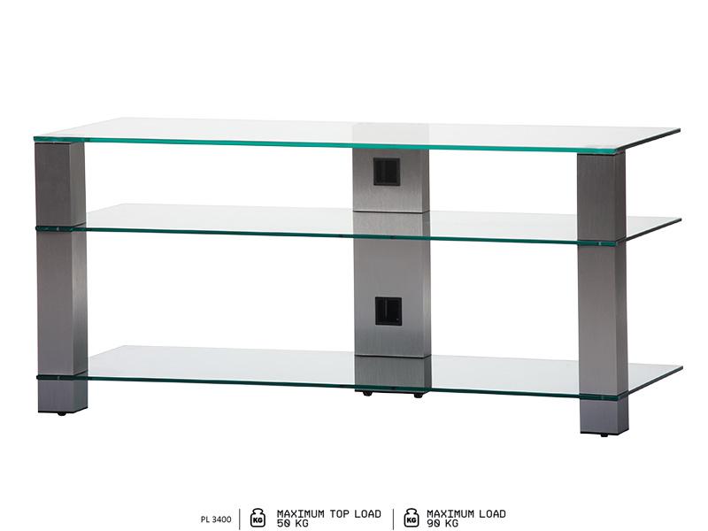 Sonorous glazen tv meubel 120cm breed