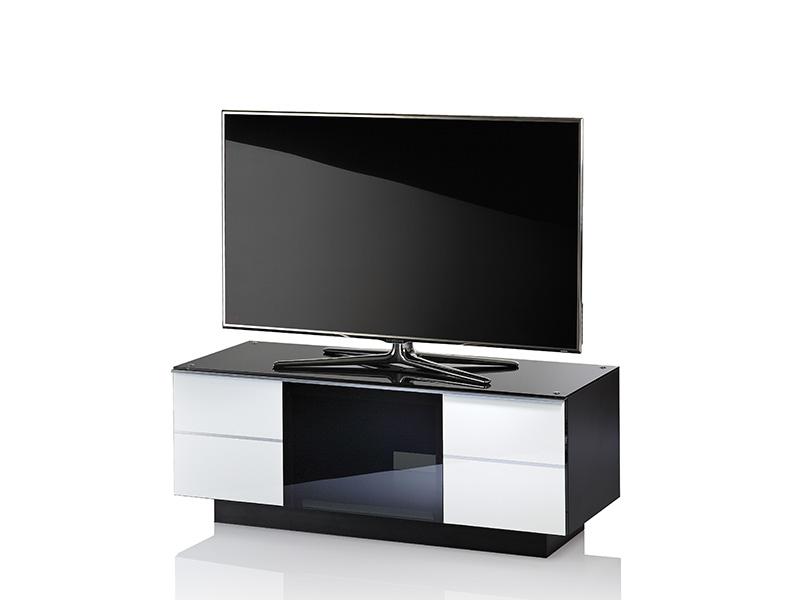 Ultimate g g 110 desigin tv meubel kleur: wit midden glas