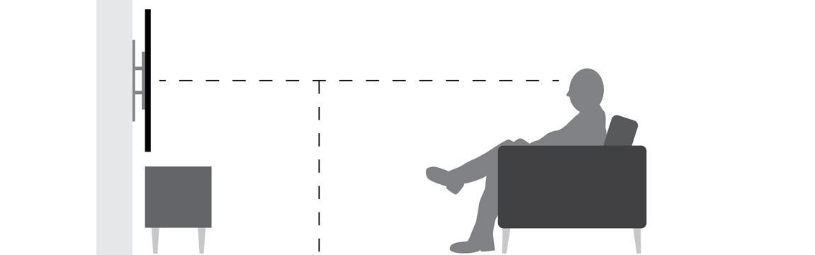 een ideale hoogte voor je tv is afhankelijk van het schermformaat van je tv de kijk afstand en of je een tv meubel of dressior onder je tv hebt staan