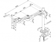 Modernsolid LA-51-1 monitor arm afmetingen