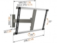 ogels THIN 325 draaibare TV-muurbeugel 40 - 65 inch