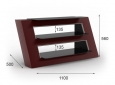Elmob Alexa01 design tv meubel bordeaux rood