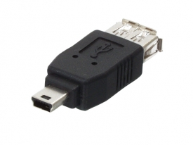 USB adapter - 5 polige mini USB stekker male naar USB A female